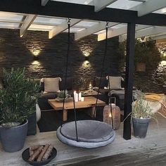 Patio Patio The post Patio appeared first on Terrasse ideen. Outdoor Balcony, Outdoor Rooms, Outdoor Decor, Outdoor Lounge, Backyard Patio Designs, Backyard Landscaping, Landscaping Ideas, Cozy Backyard, Modern Backyard