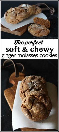 the BEST ginger molasses cookies. They are soft and chewy, the perfect ...