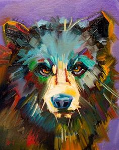 """Daily Paintworks - """"Study for Black Bear"""" - Original Fine Art for Sale - © Diane Whitehead"""