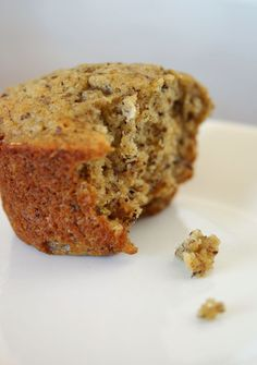 Banana-Flax Meal Muffins (substitute Pecan Meal for Flax Meal or Almond Meal)