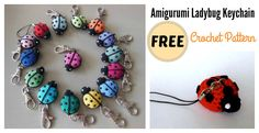 This Free Amigurumi Ladybug Keychain Crochet Pattern are great to create ladybugs to decorate keychains. This stuffed ladybug could be work up quickly.