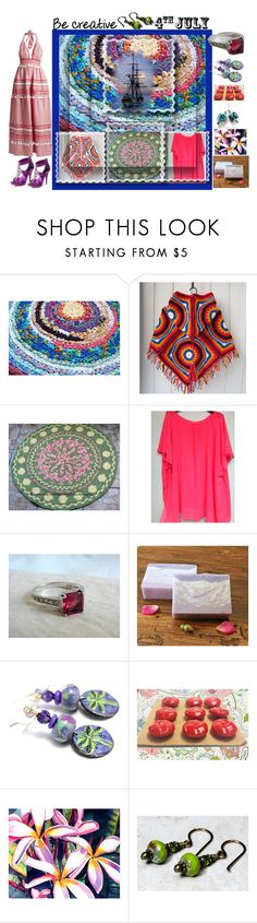 """""""Be Creative - 4th of July"""" by sylvia-cameojewels ❤ liked on Polyvore featuring Samsung and vintage"""