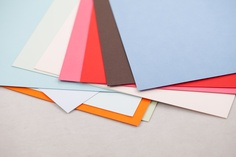 Have we mentioned that we love the Crane's colors line of paper? Our buddies at Paperworks brought the stock in just for us! They are a special sort of paper lover.