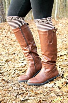 Double Buckle Riding Boots - Brown $62.99 #SouthernFriedChics