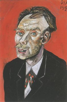 Portrait of Max John, 1920  by Otto Dix (German 1891-1969)
