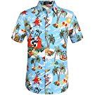 LOLDEAL Males Shirt Slim Match Common Seaside Summer time Plus Measurement Shirt Brief Sleeve Rockabilly Gothic Floral Hawaiian Aloha Loose Shirts, Casual Button Down Shirts, Casual Shirts, Ugly Christmas Shirts, Christmas Clothes, Plus Size Shirts, Plus Size Summer, Christmas Fashion, Blouse