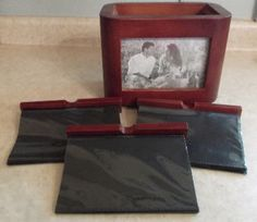Solid Cherry Wood Stained Photo Box home by GrannysTreasures4u, $14.95