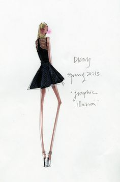 "dkny spring 2013 ""graphic illusion"""