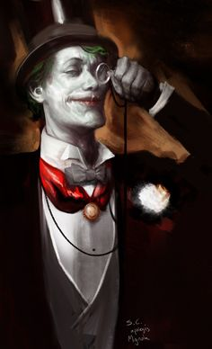 "The Joker by Sebastian Ciaffaglione (after Mignola's ""Death in the Family"" cover). Did he just paint MATT SMITH as the Joker? Comic Book Characters, Comic Books Art, Comic Art, Book Art, Personnage Dc Comics, Batman 1, Batman Stuff, The Man Who Laughs, Nananana Batman"