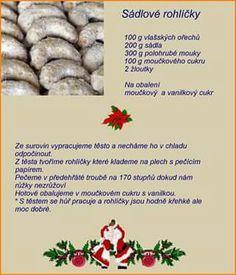 Christmas Candy, Christmas Baking, Christmas Cookies, Christmas Recipes, Eat Me Drink Me, Food And Drink, Czech Recipes, Candy Recipes, Desert Recipes