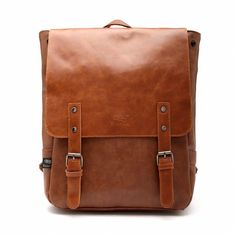 Good&god Pu Crazy Horse Leather-Like Vintage Women's Backpack School Bag