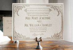So many awesome invitations, LOVE this font and style