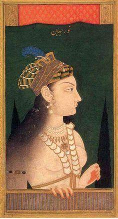 Nur Jahan Mughal Miniature Paintings, Mughal Paintings, Empire Moghol, Vintage India, Mughal Empire, India Art, Arabian Nights, Central Asia, Beauty Art