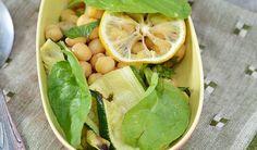 insalata con ceci, zucchine,limone e menta