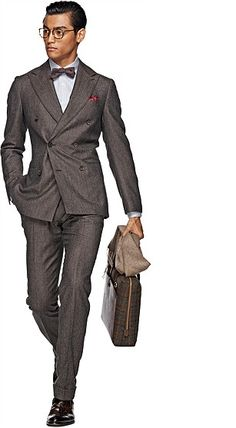 HOT SELLING wool Hand made dark grey 2 pieces six buttons wide peak lapel cheap mens suits Cheap Suits For Men, Brown Suits For Men, Dapper Suits, Mens Suits, Dapper Dan, Formal Suits, Men Formal, Dapper Gentleman, Gentleman Style