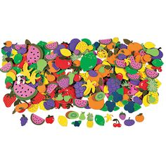 500 Fabulous Foam Self-Adhesive Fruit Shapes - OrientalTrading.com These are going to be perfect for our crafts....both pots and frames for the little one