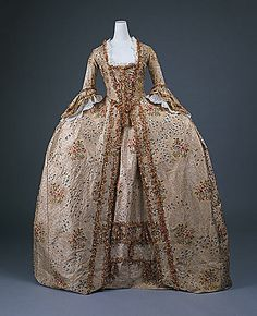 Robe à la Française, silk, ca. 1770, French
