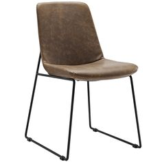 Invite Dining Vinyl Side Chair Brown