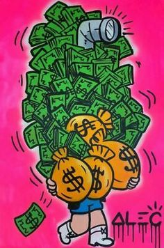 Alec Monopoly Oil Painting on Canvas art Decor,Richie Money Scope Graffiti Wall Art, Street Art Graffiti, Oil Painting On Canvas, Canvas Art, Dope Cartoon Art, Dope Art, Fine Art Gallery, Cute Wallpapers, Wall Art Decor
