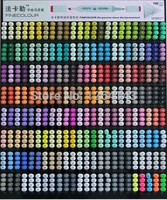 2014 real ef100 finecolour most complete 192 color sketch marker pen drawing markup double heads copic art manga brushing sets-in Art Markers from Office & School Supplies on Aliexpress.com | Alibaba Group