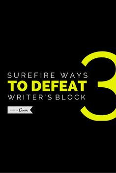 Writer's block can put a damper on things! Here are our 3 Surefire Ways To Defeat Writer's Block Read more at http://blog.canva.com/3-surefire-ways-defeat-writers-block/
