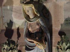 Freiburger Münster: Die freien Künste III - die Rhetorik von Uli Frömming Steinmetz, Statues, Old Clothes, Sculpture, Sacred Art, Headgear, Medieval, Costumes, Lady