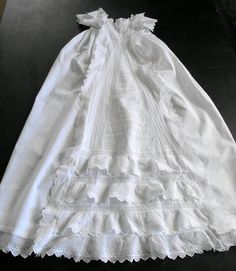 Vintage Victorian Christening Gown English from FRENCH VINTAGE LINENS AND ANTIQUES on Etsy.