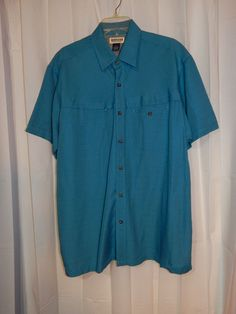 Men's Magellan Sportswear Odyssey SS Zip Pocket Fishing Shirt  XL #MagellanSporstwear #ButtonFrontShirt