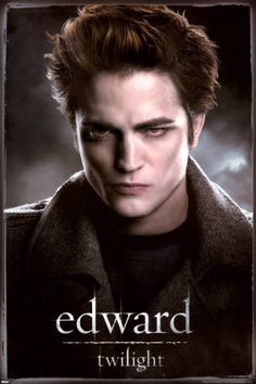 """Twilight Edward Cullen Vampire Drama Romance Fantasy Movie Film Poster Print 24 by This poster features an image of Robert Pattinson as Edward Cullen from the hit fantasy film series """"Twilight"""", based on the novels by Stephenie Meyer. Twilight 2008, Twilight Edward, Twilight Quiz, Film Twilight, Twilight Poster, Twilight Saga Series, Edward Bella, Vampire Twilight, Twilight Quotes"""