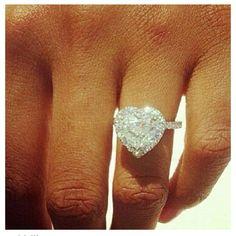 Huge Heart Diamond Engagement Ring! Beautiful
