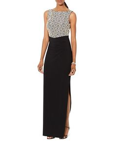 Avery G Lace Side Detail Gown | Bloomingdale's