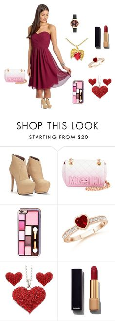 """""""Untitled #9"""" by samira-dedic ❤ liked on Polyvore featuring Moschino, Chanel, Olivia Burton, women's clothing, women, female, woman, misses and juniors"""