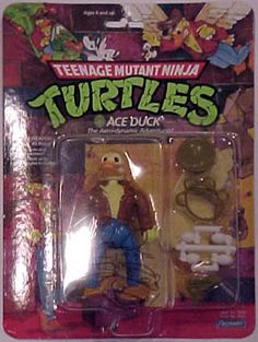 Teenage Mutant Ninja Turtles Action Figures: Ace Duck Ninja Turtle Toys, Tmnt Turtles, Ninja Turtles Action Figures, Teenage Mutant Ninja Turtles, Tmnt Characters, Mighty Max, Modern Toys, Awesome Toys, Cartoon Toys