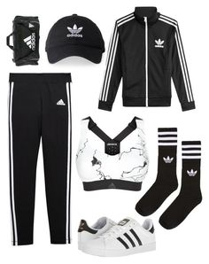 """Untitled #221"" by brodriguez8104 on Polyvore featuring adidas and adidas Originals"