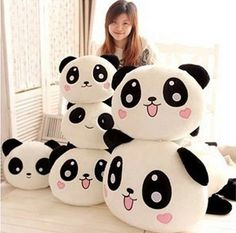 China's national treasure Plush girl boy cute Soft Toy Panda Stuffed Animal 45cm we can't let her c these PAIGE