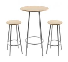 "Zella Bar Table Set Natural Stools measure 13"" D top by 29.5"" H,  (33.02 D x74.93 H cm) Table measures 23.5"" D top by 42"" H. (59.69 x 106.68 cm)"