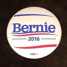 Bernie Sanders: Bernie Sanders Senator Vermont Official 2016 President Campaign Button Pin White -> BUY IT NOW ONLY: $5 on eBay!