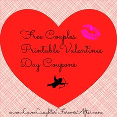 Free Couples Printable Coupons, such a cute idea for your sweetie this Valentines Day!