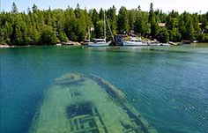 Tobemory Harbour...you canoe right on top of the ship wrecks---sounds amazing!!