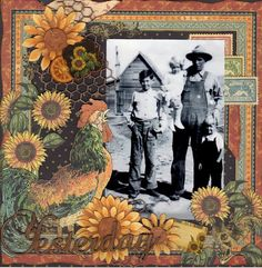 """Yesterday"" French Country layout from scrapbook.com gallery #graphic45 #layouts"