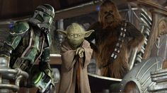 Wookie Warrior with Commander Gree and Yoda