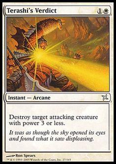 Terashi's Verdict - Instant - Arcane - Sun - White - Betrayers Of Kamigawa - Magic The Gathering Trading Card