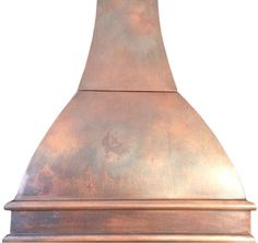 """Custom Copper Hood """"Austin"""" Model Austin can be used for a gas or electric range in any high ceiling kitchen to add modern flavor. #mycustommade"""