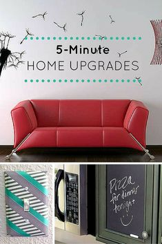 Redesign your space with easy DIY project ideas that take 5 minutes or less.