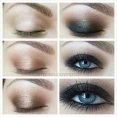 Cool makeup ideas for blue eyes (78 photos): Urban Decay Naked Palette makeup for blue eyes