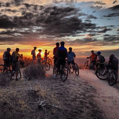 Enjoy a good bike ride and an amazing sunset in Boise!  Just a way of life around here.