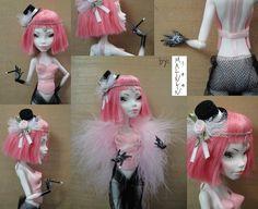 Monster High Cupid OOAK ~Burlesque Girl by ~Malinlin on deviantART