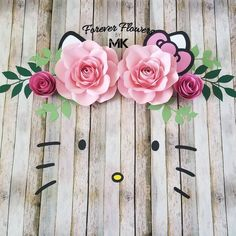 Large Handmade Paper Flowers and Banners por ForeverFlowersbyMK