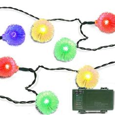 Lalapao Battery Operated Optional Automatic Timer String Lights 50LED Chuzzle Ball Fairy Christmas Lighting Decor with 5 Modes For Outdoor Indoor Garden Patio Bedroom Wedding Decorations (Multi Color) ** Awesome product. Click the image : Wedding Decor