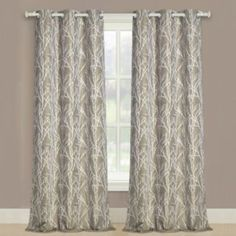 Shop for Luxury Collection Taylor Light-Filtering Curtain Panel Pair - w x l. Get free delivery On EVERYTHING* Overstock - Your Online Home Decor Outlet Store! Get in rewards with Club O! Cool Curtains, Floral Curtains, Grommet Curtains, Hanging Curtains, Curtain Fabric, Window Curtains, Curtain Panels, Window Treatment Store, Window Treatments